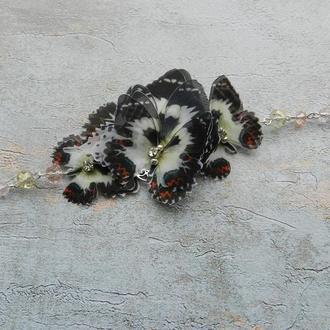 Свадебный браслет с бабочками
