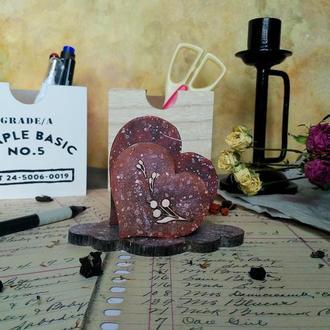 "Подставка-салфетница ""Каменное сердце"""
