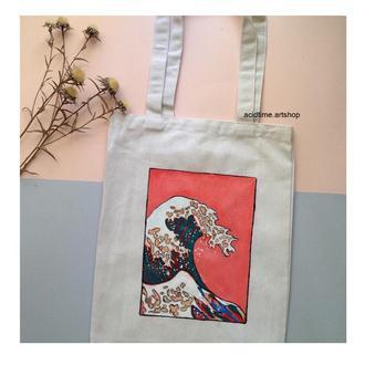 """Эко-сумка с  """"Большая волна в Канагаве"""""""