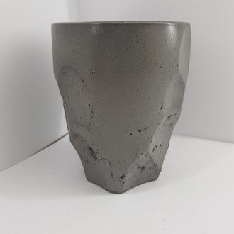 Бокал для коктейлей из бетона, сделанный вручную, стиль Loft - графитовый