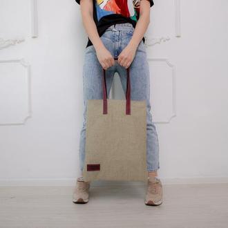 Сумка из натуральной ткани TEX эко сумка