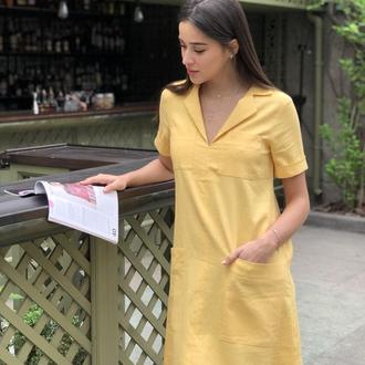 Платье из льна Avrora (Коллекция Лето 2019)