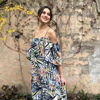 Платье принт пальмы (Коллекция Лето 2019)
