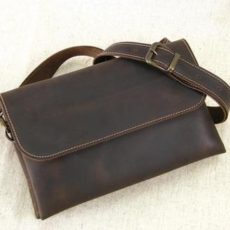 кожаная женская сумка клатч