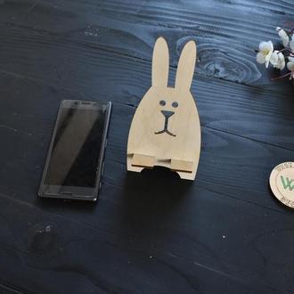 Декоративная подставка для телефона в форме зайчика / держатель