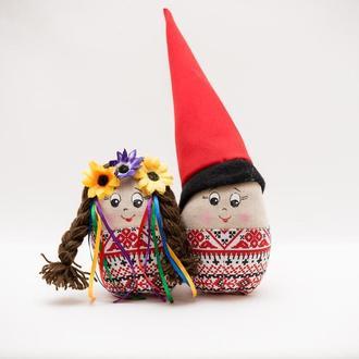 Пасхальный декор Vikamade яйцо козак и козачка пара