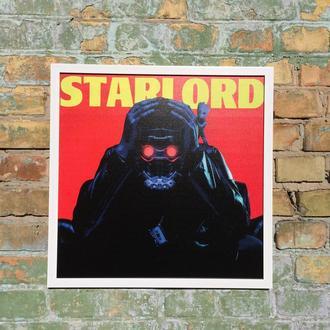 "Постер на ПВХ 3 мм. в рамке ""Звездный лорд"" (Starlord)"