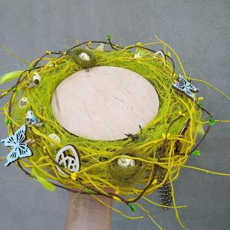 Декоративная тарелка -подставка для кулича