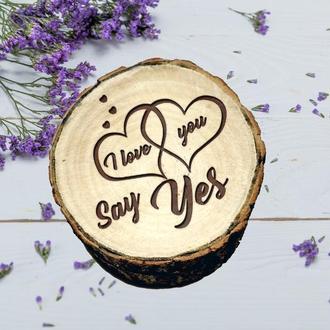 Предложение руки и сердца. Свадебная шкатулка. Деревянная коробочка для свадьбы рустик. Подарок