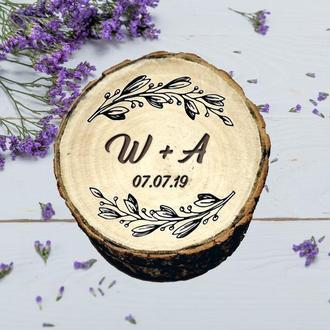 Свадебная шкатулка для колец. Деревянная коробочка для колец. Деревянная шкатулочка для помолвки