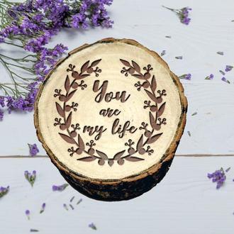 Оригинальная Деревянная Шкатулка предложение руки. Свадебная коробочка для колец. Подарок любимой
