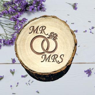 Свадебная шкатулка для колец MR MRS. Предложение руки. Коробочка для помолвки.