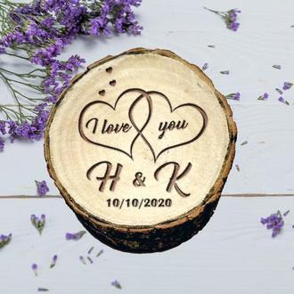 Персонализированная шкатулочка для колец. Шкатулка для свадьбы. Деревяная коробочка для свадьбы