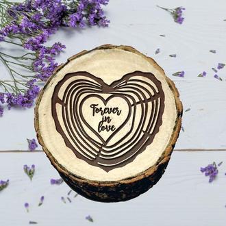 Свадебная деревянная шкатулка. Подарок для помолвки. Шкатулка для обручальных колец. Шкатулка рустик