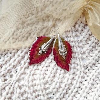 Сережки ручной Red Grapes