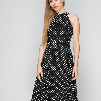 Платье черное в горох (XS)