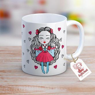 Алиса в стране чудес - дизайнерская чашка