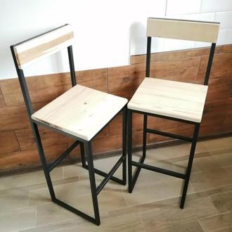 """Барные стулья в стиле """"лофт"""" - дерево+металл"""