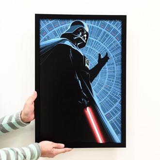 "Постер на ПВХ 3 мм. в рамке ""Дарт Вейдер"" (Darth Vader Lightsaber)"