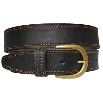 Terra2 кожаный женский ремень черный пояс со строчкой для джинсов пасок ремінь