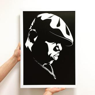 "Постер на ПВХ 3 мм. в рамке ""The Notorious B.I.G."""