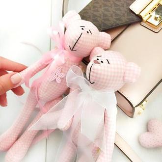Мишка розовый мишутка игрушка подарок детям дочке девушке  подруге