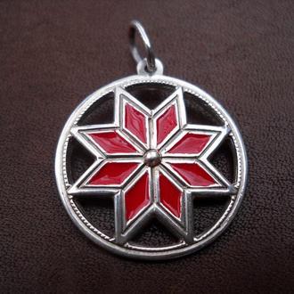 Кулон «АЛАТИР»  (срібло, емаль)