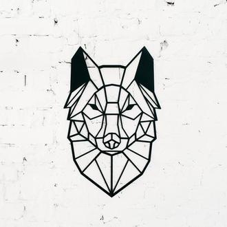 """Полигональная картина """"Волк"""""""