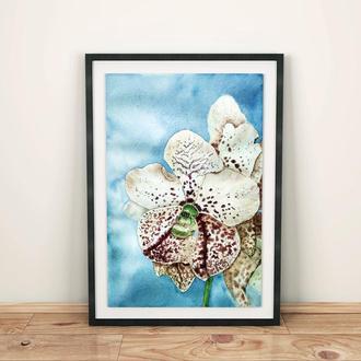 Картина акварелью, цветы