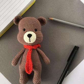 Вязанный мишка. Іграшка ведведик.