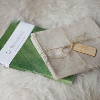 Набор кухонных льняных полотенец 2шт. из льна, льняные полотенца, кухонные полотенца, полотенца