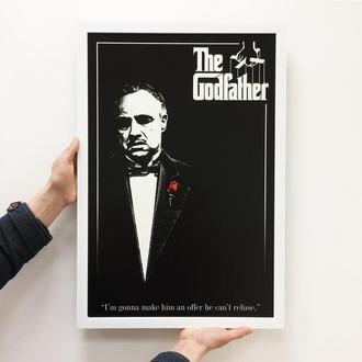 """Постер на ПВХ 3 мм. в рамке """"Крестный отец"""" ( The Godfather)"""