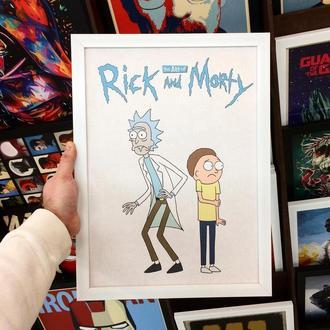 "Постер на ПВХ 3 мм. в рамке ""Рик и Морти"" (Rick and Morty)"