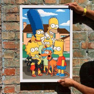 """Постер на ПВХ 3 мм. в рамке """"Симпсоны"""" (Simpsons)"""