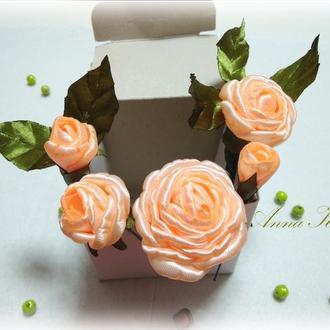 """Набір шпильок в зачіску """"5 Троянд"""""""
