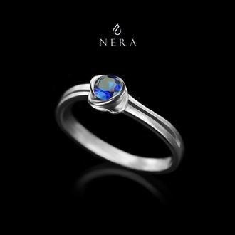 """Кольцо (каблучка) """"Синяя роза"""". Серебро (срібло)925"""
