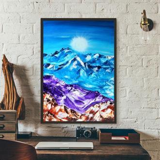 Снігові гори (картина масло/полотно) 50х70х2 см
