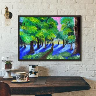 Летний лес (картина масло/холст) 50х70х2 см