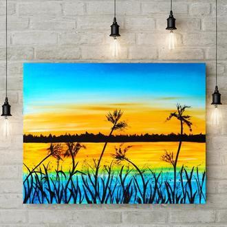 Тихий пруд (картина масло/холст) 50х60х2 см