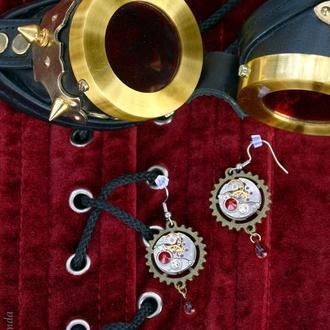 Дар времени - серьги в стиле steampunk  (2 пары в наличии)