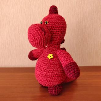 Дракон, дракончик, дракоша - мягкая игрушка крючком