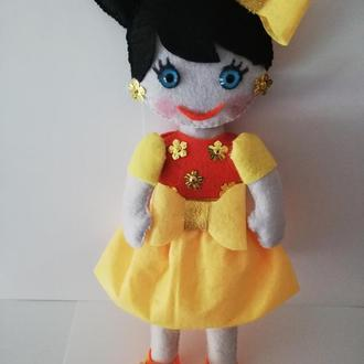 Кукла Аннушка из фетра