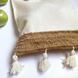 Эко торба, женская сумка, натуральная сумка, сумка Бохо, стиль Boho