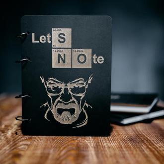 """Блокнот в деревянной обложке """"Lets Note"""" (Breaking bad)"""