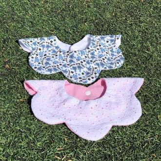 Слюнявчики-воротнички цветочки