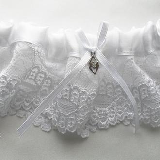 Подвязка для невесты широкая