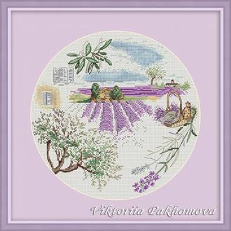 """Схема для вышивки крестом """"Lavender (Лавандовая)"""""""