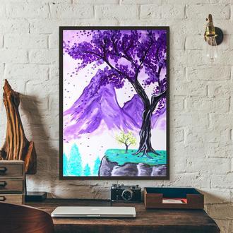 Мечтательный пейзаж (картина масло/холст) 80х60х2 см