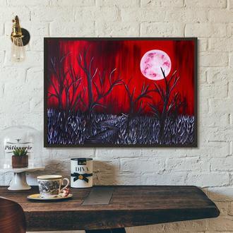 Тихая ночь (картина масло/холст) 60х80х2 см