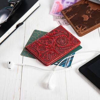 "Обложка-органайзер для документов  ( ID паспорт ) / карт Hi Art AD-03 Crystal Red ""Buta Art"""